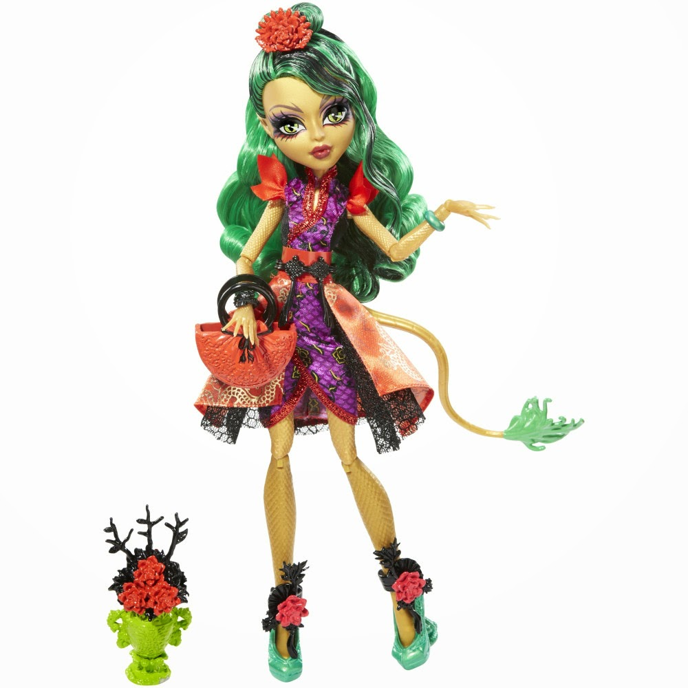 JUGUETES - MONSTER HIGH Gloom and Bloom  Jinafire Long | Muñeca | Toys - Doll  Producto Oficial 2014 | Mattel CGH95 | A partir de 6 años