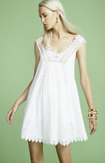 vestido para la primavera verano 2016 encaje blanco