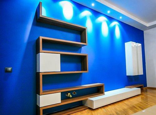 living albastru