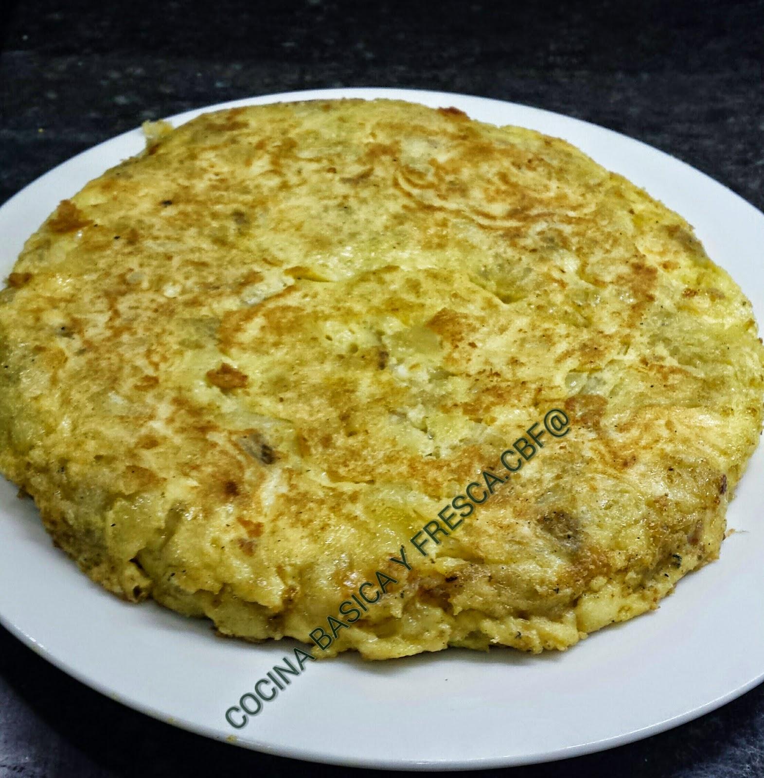 Cocina casera y rapida tortilla de patatas con cebolla y - Cocina casera facil y rapida ...