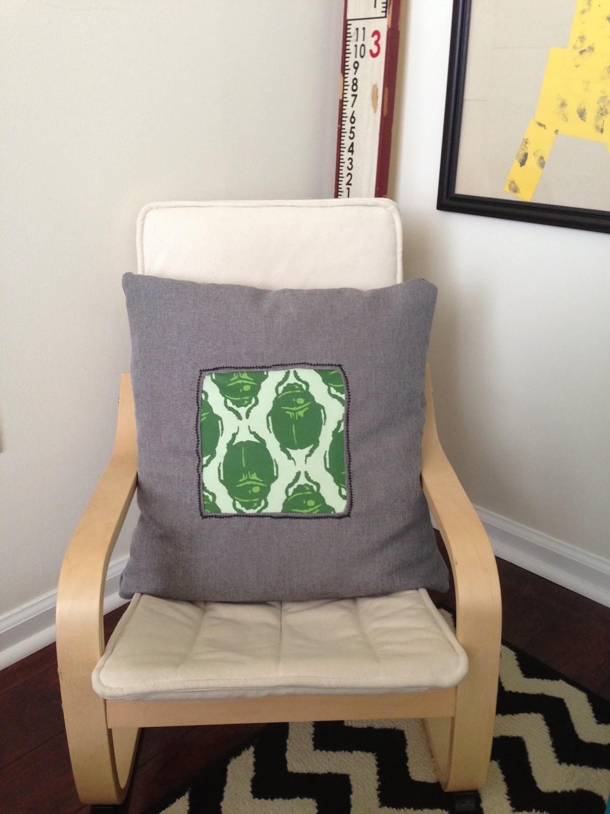Inside out design a diy beetle print pillow for Insider design pillow
