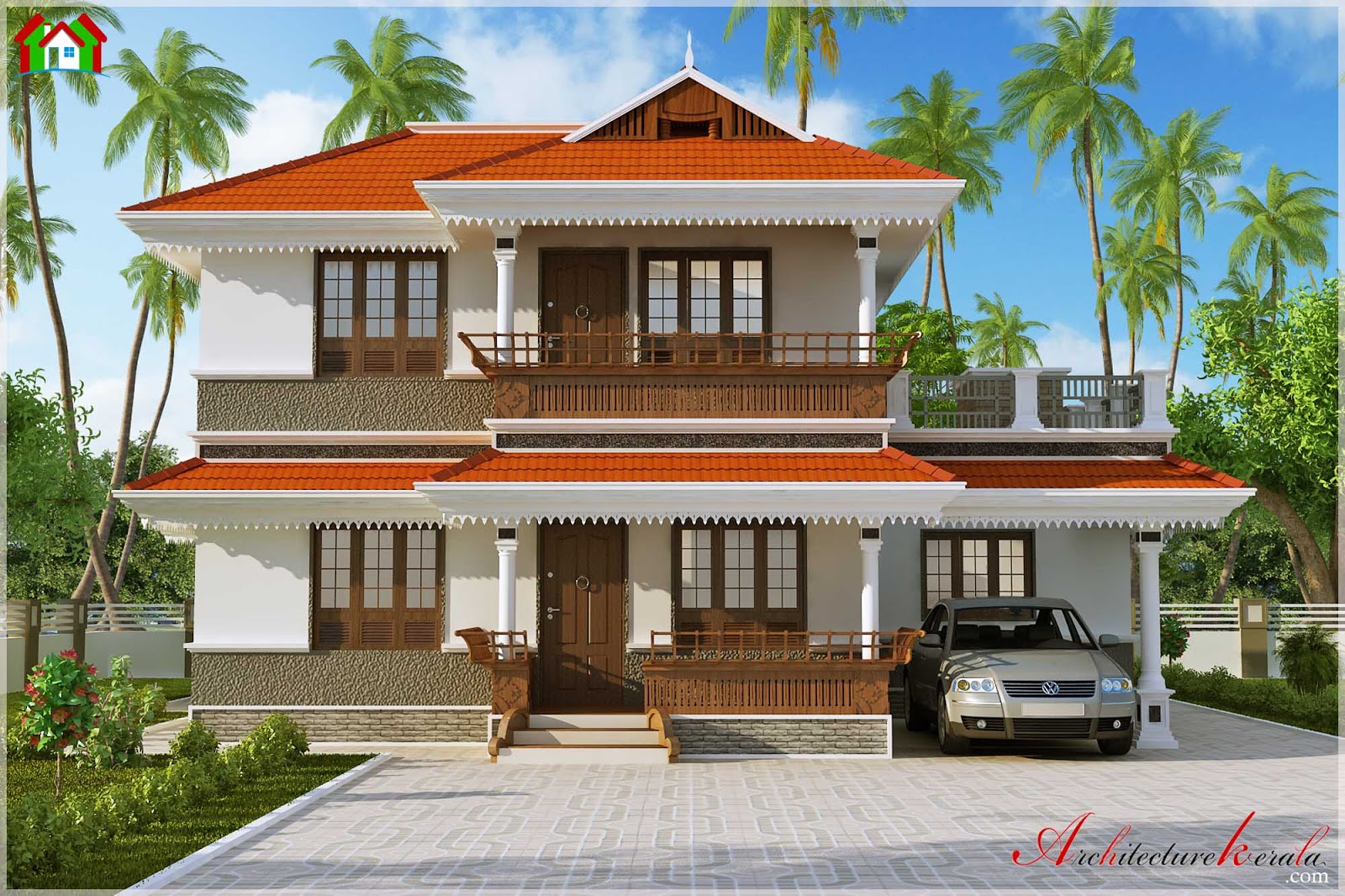 Simple house elevation joy studio design gallery best for Simple houses in kerala