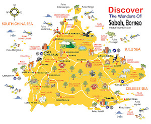 The Map of Sabah