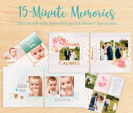 "The April ""CUT ABOVE"" scrapbooking kit promotion!"