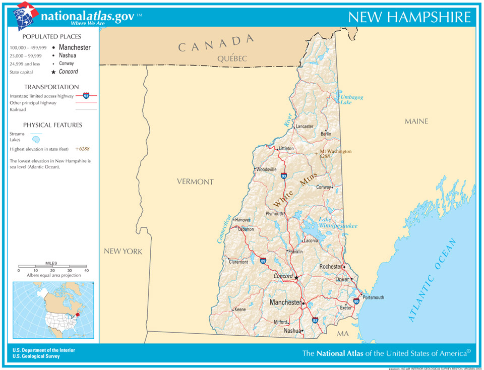 American Civil War New Hampshire In The Civil War - Map of the us during civil war