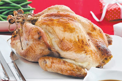 Roast turkey with almond & tarragon stuffing Recipe