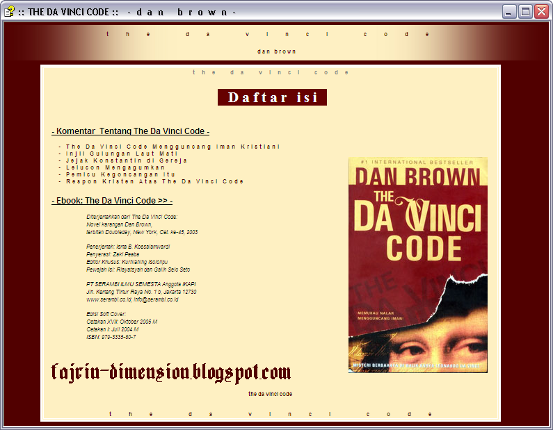 E-Book, The Da Vinci Code