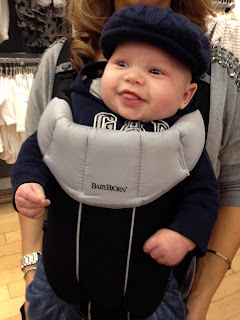 Freddie out shopping in the UK
