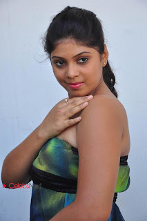 Telugu Actress Haritha Latest  Picture Shoot Gallery in Strapless Short Dress  0029.jpg