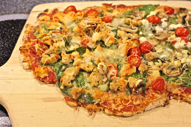 An Illionis shaped wholewheat pizza on www.anyonita-nibbles.com
