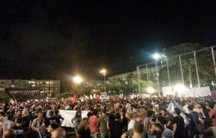 3,000 Penunjuk perasaan di Tel Aviv Tolak Serangan Zionis terhadap Gaza
