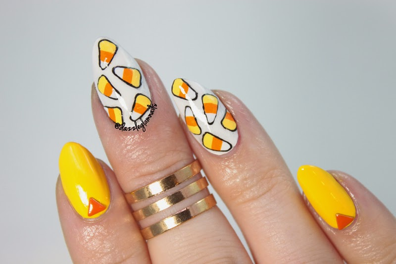 Candy Corn Nails my Nails The Candy Corn