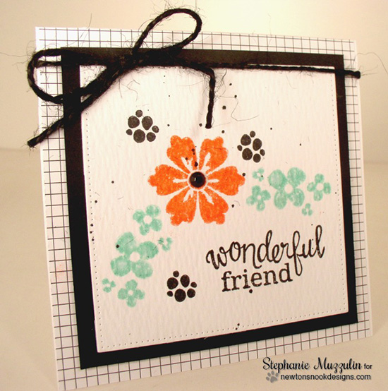 Wonderful Friend Flower card by Stephanie Muzzulin | Fanciful Florals Bold Flower Stamp set by Newton's Nook Designs
