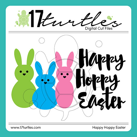 17turtles Digital Cut File Hoppy Easter