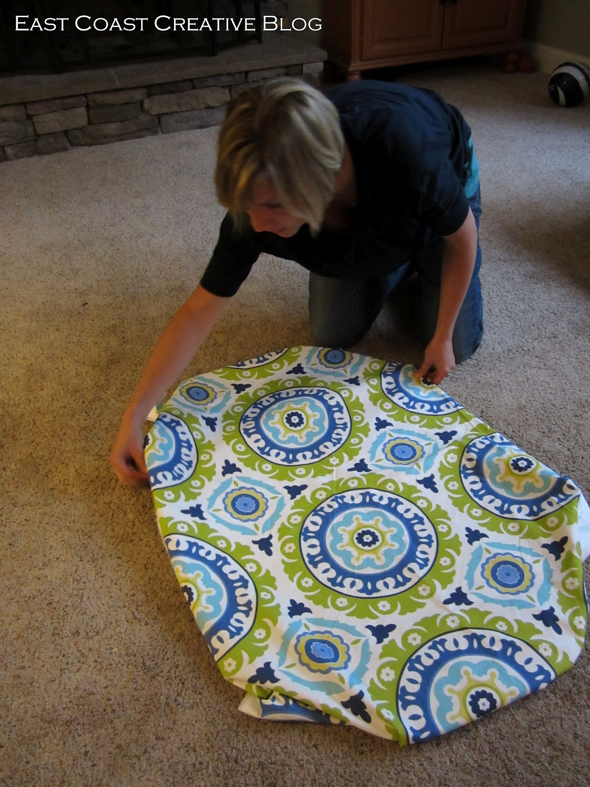 Can you paint rubber floor mats - Then Fold The Fabric Back About Halfway And Spray The Rubber Mat With Spray Adhesive Fold The Fabric Back Down Smoothing Out The Bubbles And Wrinkles As