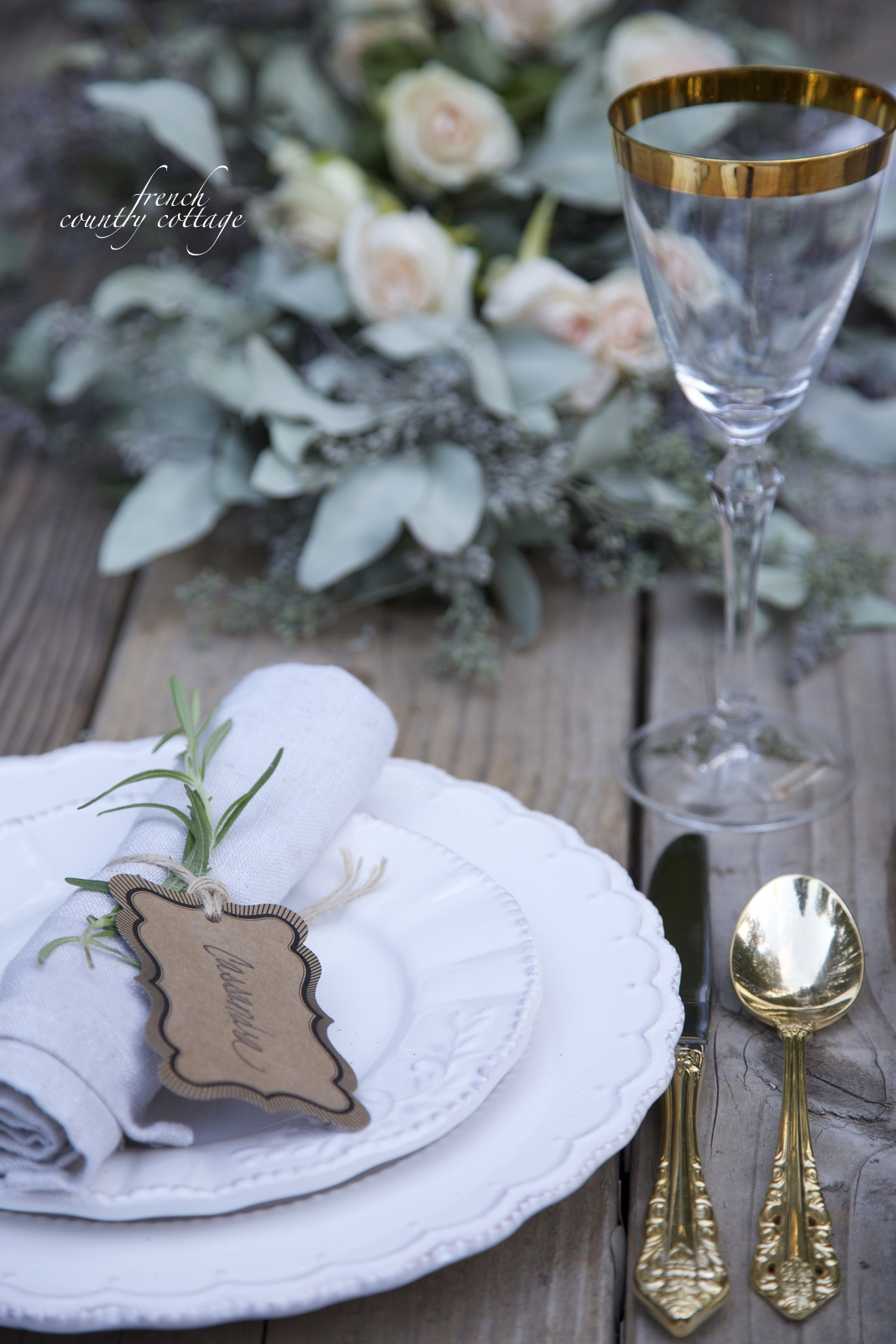 tablesetting & Simple Elegant Thanksgiving Table - FRENCH COUNTRY COTTAGE