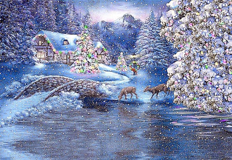 Beautiful Christmas Scenes Wallpaper