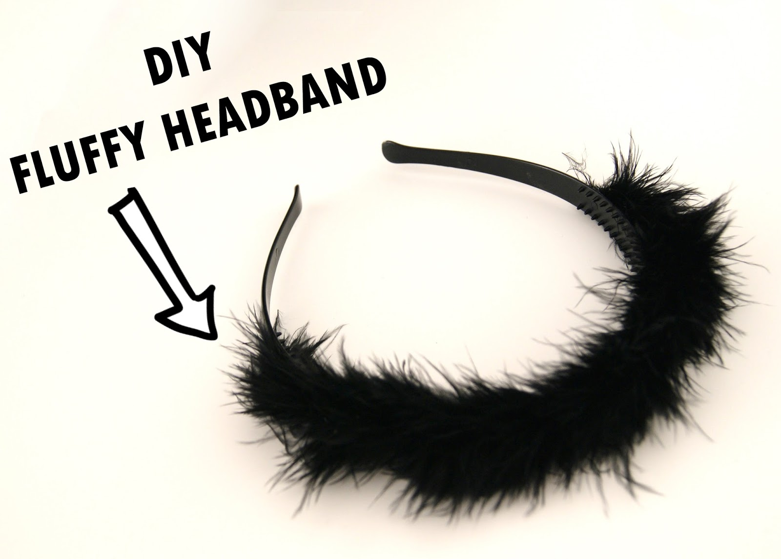 DIY Fluffy Hair Headband