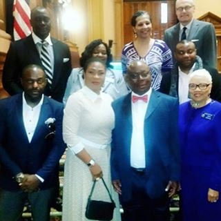 Nollywood Actor Jim Iyke Invited As Special Guest At US State Georgia House Of Assembly On Martin Luther Day (Photo)