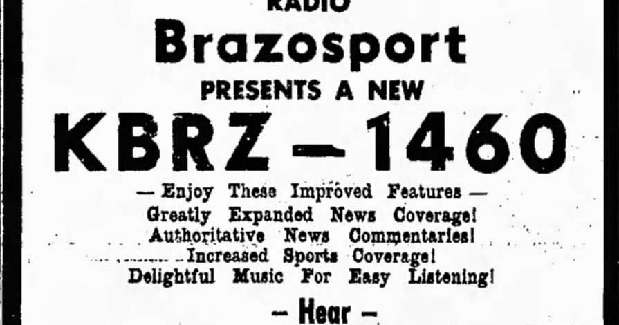 houston radio history  kbrz  freeport  1460
