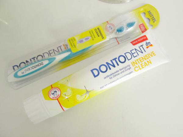 Dontodent Intensive Clean Zahncreme & Zahnbürste