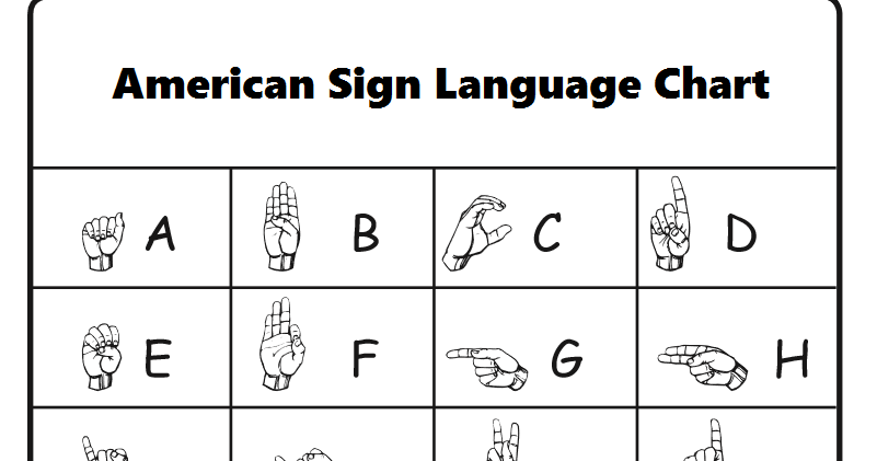 Asl worksheets