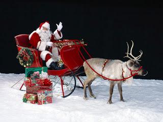 happy christmas santa claus wallpapers - Santa Claus And Jesus 2