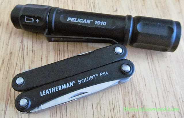 Leatherman Squirt PS4 Multi-Tool With Pelican 1910 AAA Flashlight
