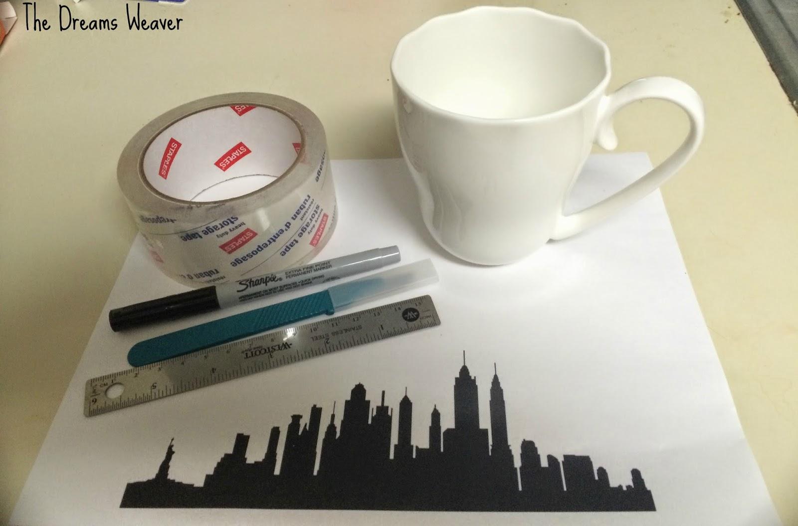 Sharpie Painted Ceramic Mug~ The Dreams Weaver