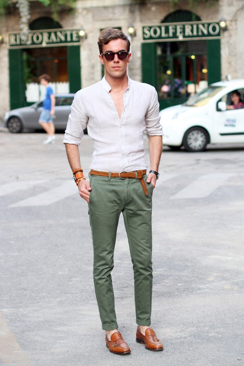 MANtoMEASURE: What to Wear with Green Chinos