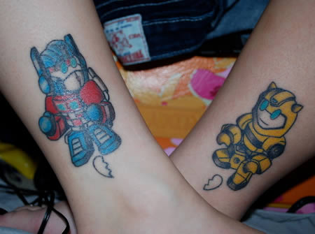 couple love tattoos