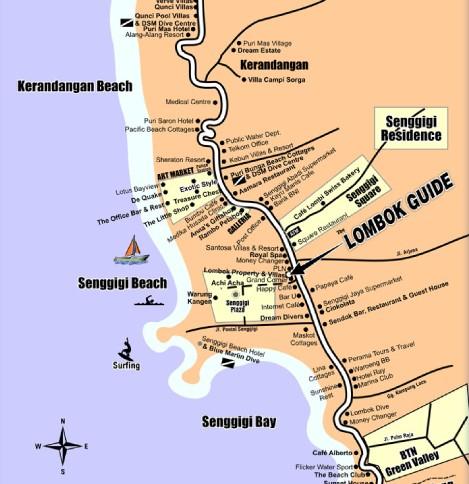 Peta wisata senggigi lombok