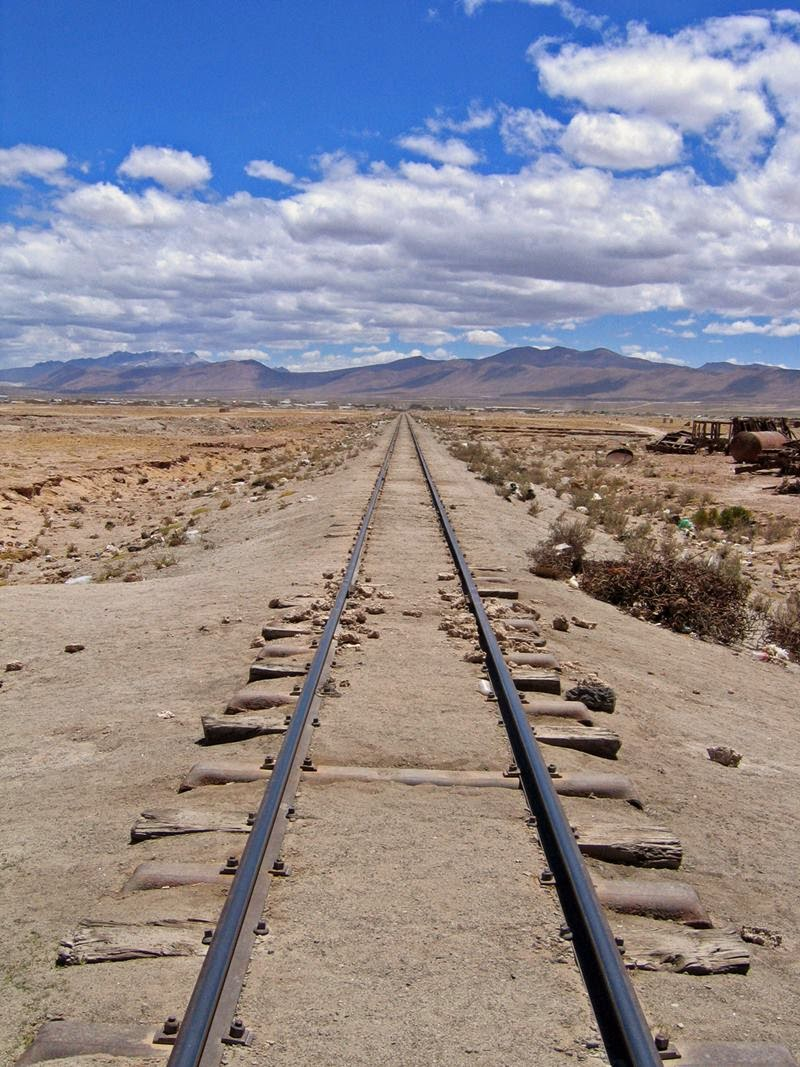 Train Cemetery in Uyuni, South America, Bolivia
