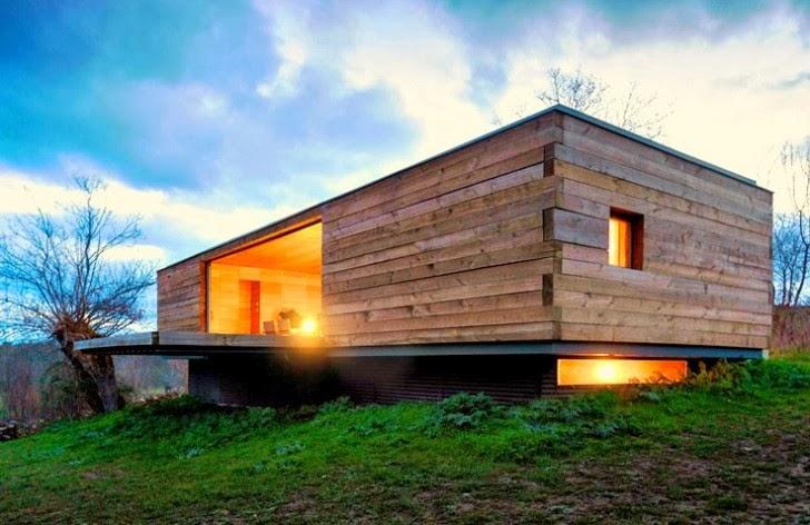 Impresionante refugio de madera en el coraz n de la meseta espa ola ideas eco - Refugios de madera prefabricados ...