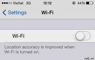Tắt toàn bộ kết nối mạng gồm Wifi + dữ liệu di động + 3G