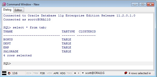 how to create schema in oracle 11g