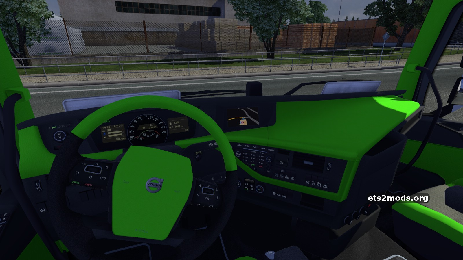 Lime Green Interior For Volvo 2012 Ets2 Mods