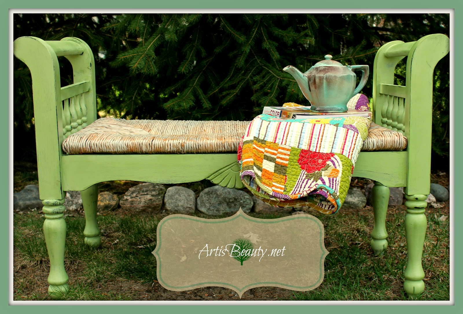 beachy-painted-bench-makeover-art-is-beauty