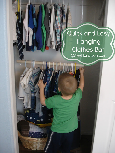 Hanging Clothes Bar For Kidu0027s Closets