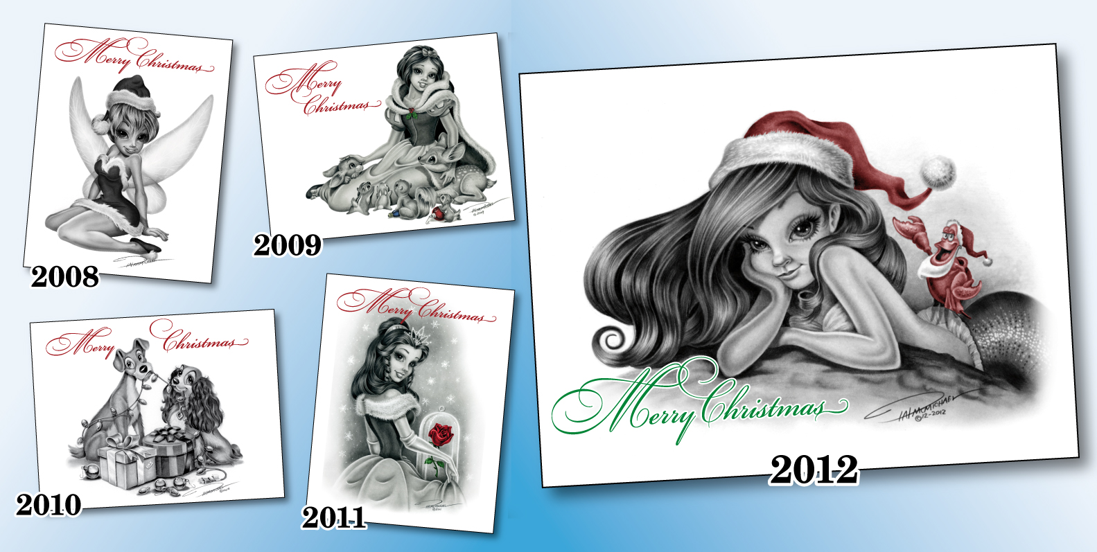 Graphite drawings and what not this years christmas card for Christmas card drawing ideas