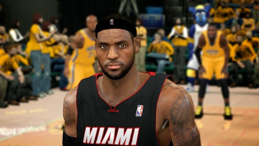 NBA 2K14 Realistic LeBron James Face Mod