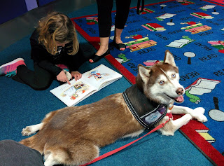 Therapy Dogs help kids be better readers!