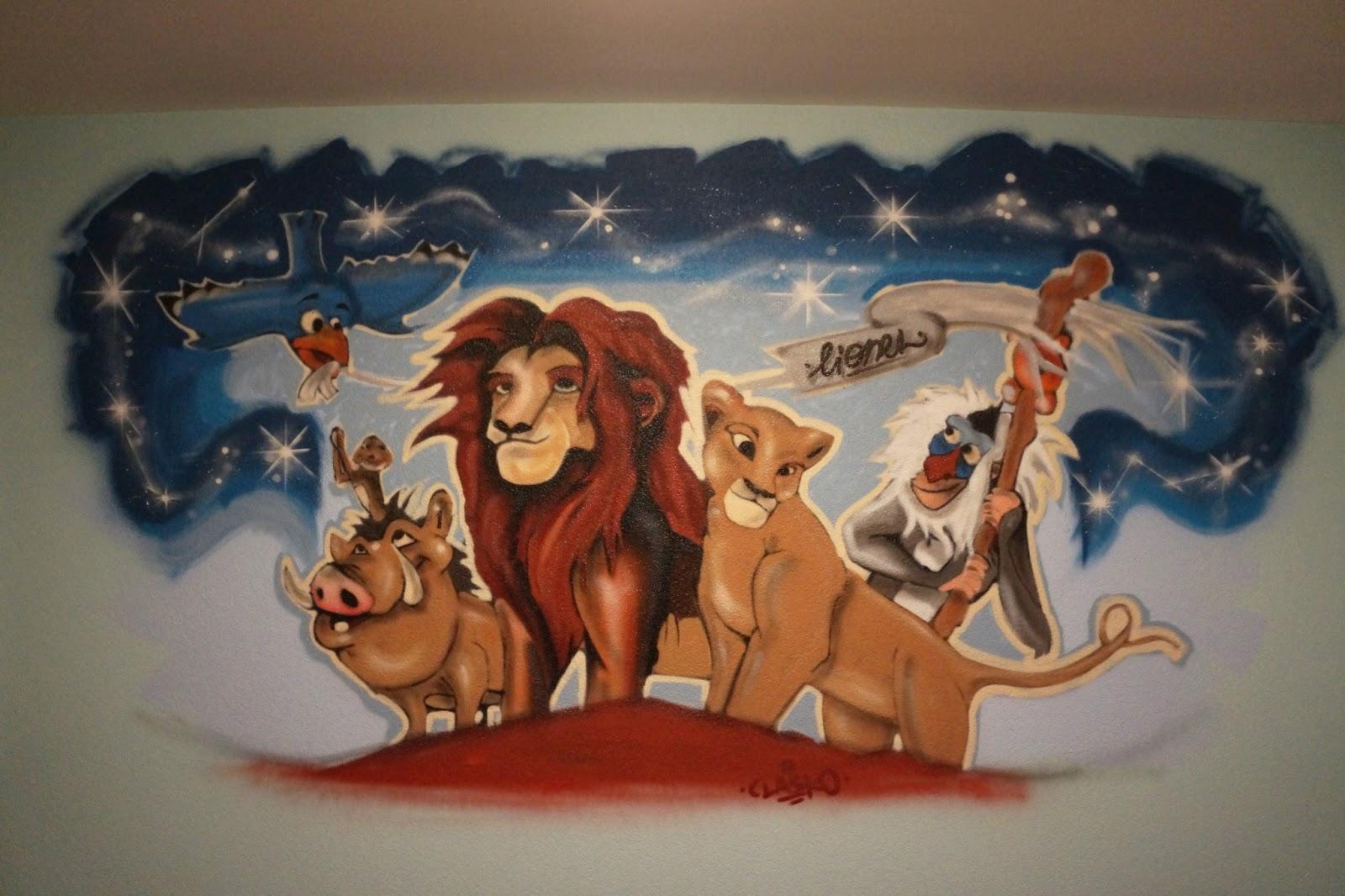 Graffiti Sprayer Schweiz: Graffiti Kinderzimmer: König der Löwen