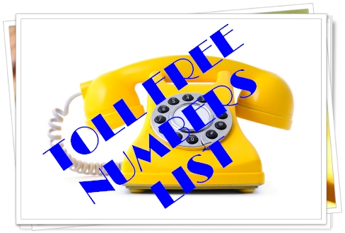 Toll free number search india