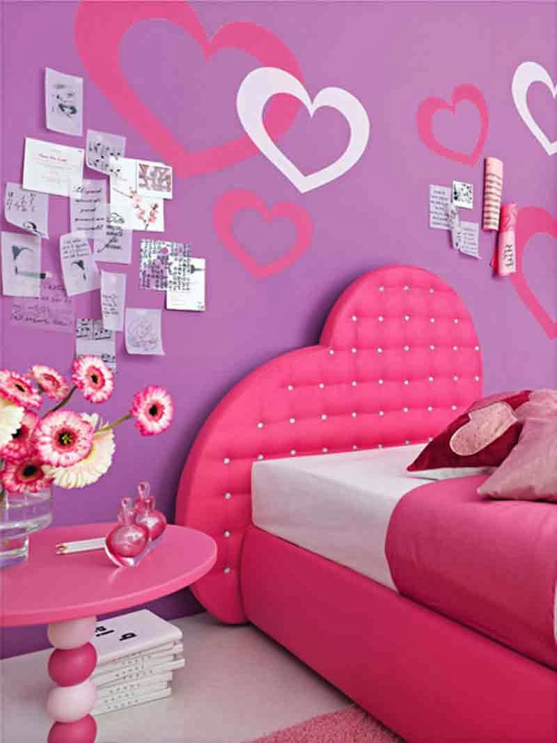 purple pink teenage girl bedroom ideas wall color. Black Bedroom Furniture Sets. Home Design Ideas
