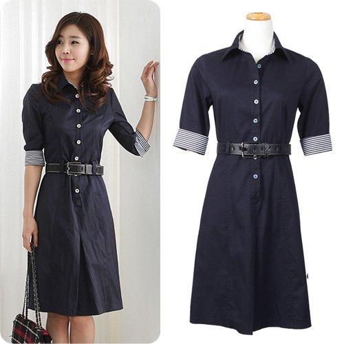 Model Baju Kerja Wanita Terusan Warna Hitam