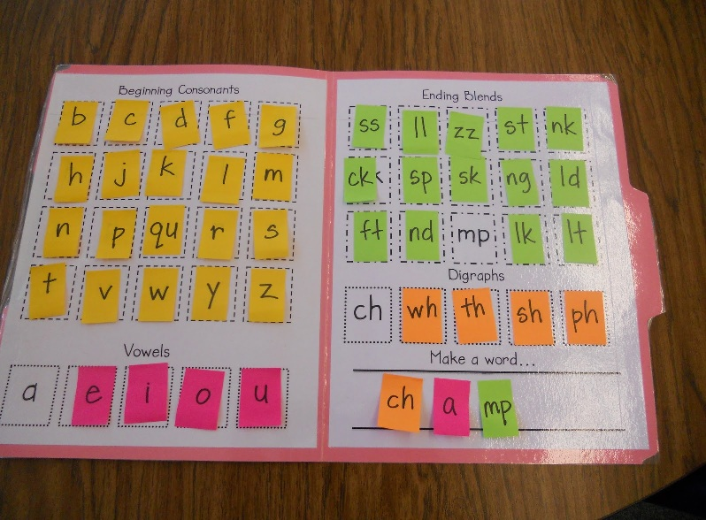 can t wait to make this making words file folder that i found over ...