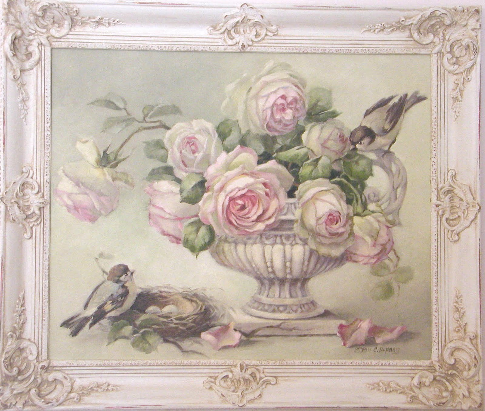Chateau de fleurs another special thank you for a special - Cuadros shabby chic ...