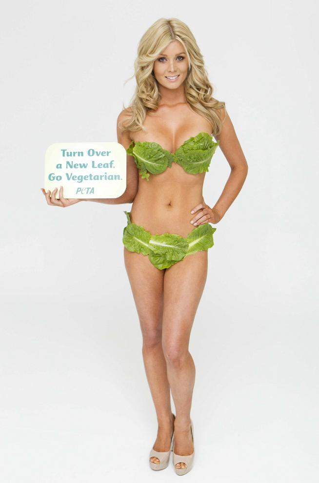 Sheridyn Fisher poses for PETA