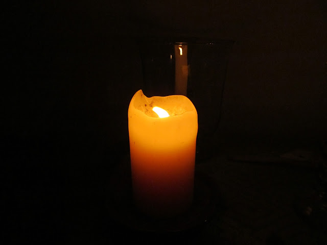 My altar candle for the Veiled Goddess